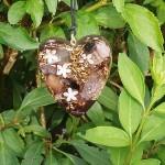 Pendentif coeur violet clair